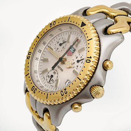 Tag heuer, tachymetre 200 m, wristwatch, 39 mm.