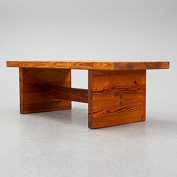 A pine bench, 1970's.