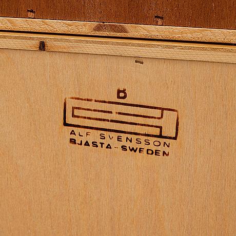 Alf svensson, bookshelf, bjästad snickerifabrik, 1960's.