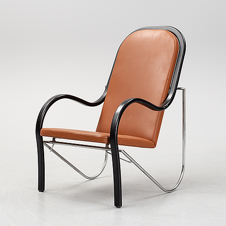 A leather armchair, 1980's/90's.