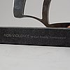 Carl fredrik reuterswärd, sculpture, steel, signed cfr and numbered 49/50.