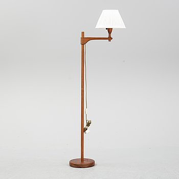 A late 20th century pine wood floor lamp design Carl Malmsten, Sweden.