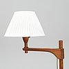 A late 20th century pine wood floor lamp design carl malmsten, sweden.
