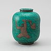 """Wilhelm kåge, a stoneware vase, """"argenta"""", modell 1079, gustavsberg."""