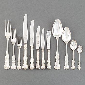 CG Hallberg, a silver cutlery service, 'Prins Albert', Stockholm. (179 pieces).