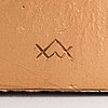 Wäinö aaltonen, relief, förgylld gips, monogramsignerad.