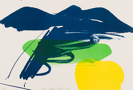 Ulla rantanen, litograph, signed and dated -92, numbered 23/198.