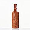 Stig lindberg, two stoneware vases, gustavsberg studio, sweden 1963 and 1965.