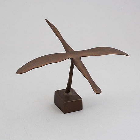 Kg bejemark, a bronze sculpture, signed kgb.