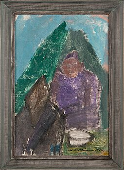 Olavi Martikainen, oil on canvas, signed and dated 1976.