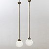 A pair of 1940/50s ceiling lamp.