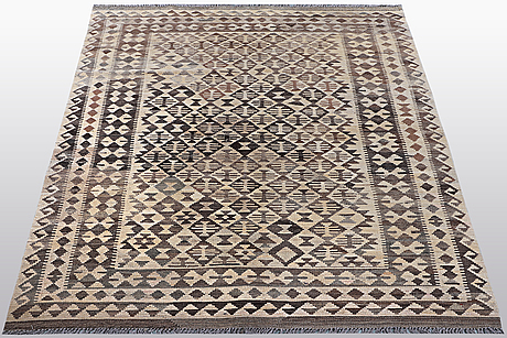 A rug, kilim, ca 246 x 154 cm.