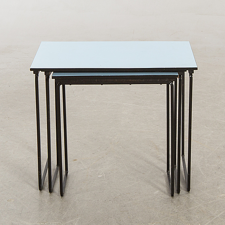 Satsbord, 50-tal, metall, laminat.
