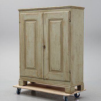 A painted 19th Century cupboard.