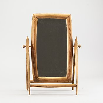 Table mirror, pine, 1940s-50s.