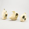 Vases, ceramics, 3 parts, 1950s, probably italy.