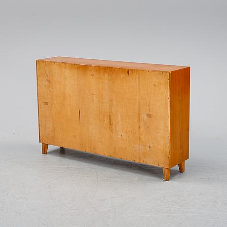 An elm veneered book case, 1930's.