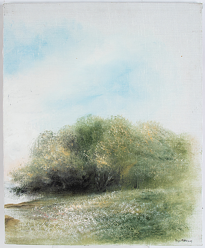 Inge pettersson, tripthyk, oil on canvas, signed.