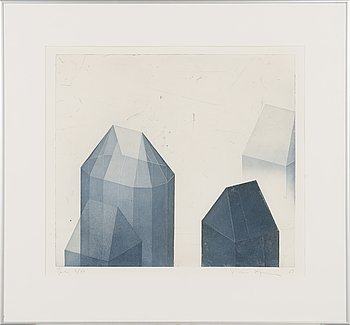 Päivi Lempinen, drypoint and aquatint, signed and dated -89, numbered Tpl'a 3/50.