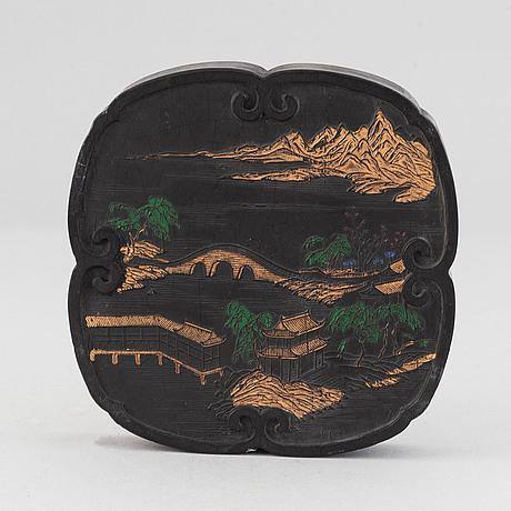 Tuschsten, kina, 1900-tal.