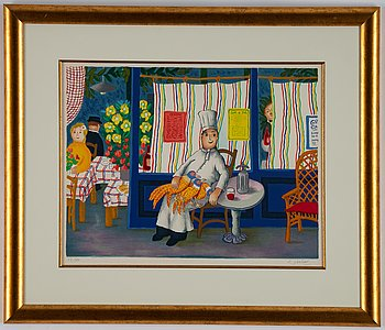 Lennart Jirlow, lithograph in colors, signed and numbered 13/180.