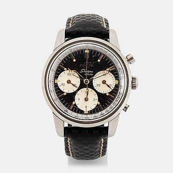 "89. Enicar, Sherpa Graph, chronograph, ""Mark 1a"", ""Gladius hands"", ""Tachymetre Base 1000"", ""Stirling Moss""."