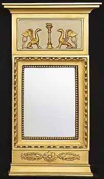 An Empire mirror mid 1800s from Karlskrona.