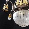 Chandelier / ceiling lamp, art nouveau, early 20th century.