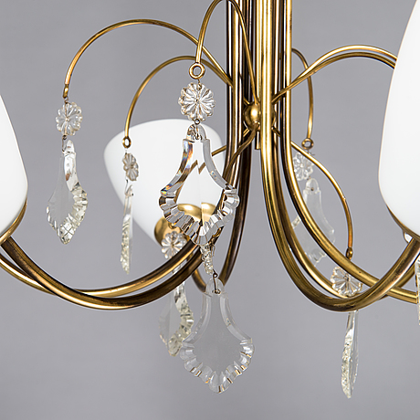 Paavo tynell, a mid-20th-century 'k1-12' chandelier for idman.