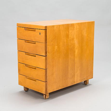 Alvar aalto, an early 1930s 'b96' drawer unit for o.y. huonekalu-ja rakennustyötehdas a.b. finland.