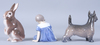 Figuriner, 3 st, porslin, kongl dansk samt bing & gröndahl.