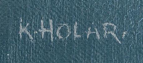 Knud holar , olja på duk signerad.