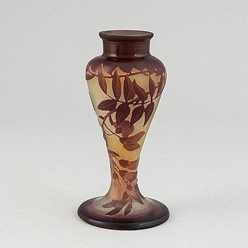 Emile Gallé, an Art Nouveau cameo glass table lamp base, Nancy, France.