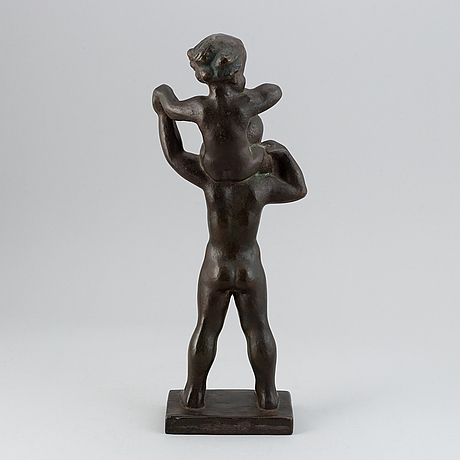 Jonas fröding, sculpture. signed. bronze.