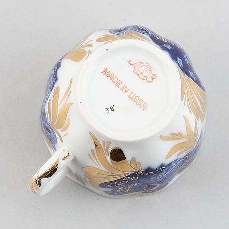 A 16 piece coffee service, porcelain, lomonosov, russia.