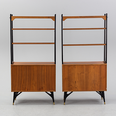 A pair of 1950-60's bookshelves.