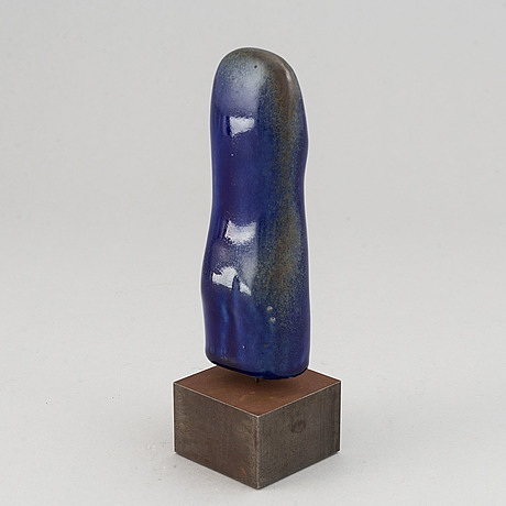 Ulla & gustav kraitz, a stoneware sculpture of a female torso, signed u.k.