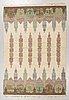 "Judith johansson, a carpet, ""hallandsåsen"", flat weave, ca 245,5 x 171 cm, signed jj."