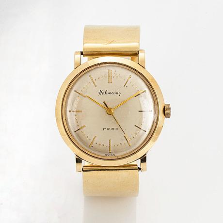 Habmann, wristwatch, 34 mm.