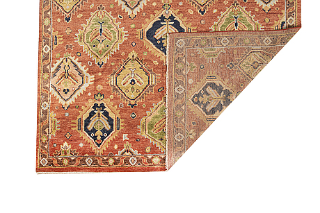 A carpet, mamluk design, ca 304 x 239 cm.