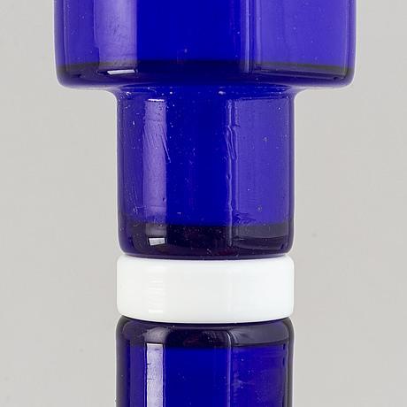 Po ström, five glass vases, alsterfors glassworks, sweden ca 1970.