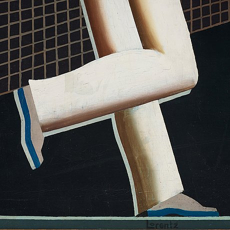 "Waldemar lorentzon, ""tennisspelare"" / ""the tennis players""."