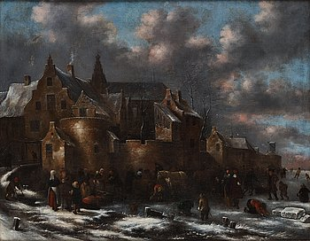 Klaes Molenaer, attributed to. Inscribed signature. Relined canvas 87 x 101 cm.