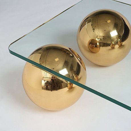 Angelo donghia, probably, a coffee table, for donghia rubelli group, italy 21st century.