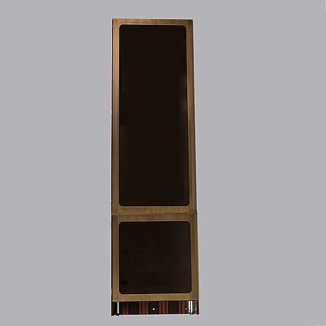 A billiards cue brass cabinet. bespoke, los angeles 21st century.