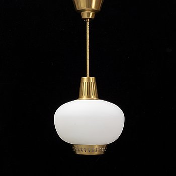 Hans Bergström, a brass and glass lamp.