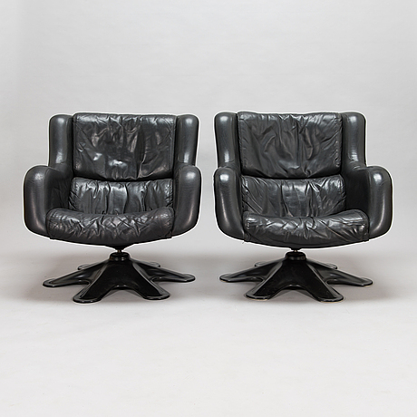 Yrjö kukkapuro, a pair of 1960's '418' armchairs for haimi.