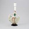 A ceramic table light, keramos, vienna, austria, 1920's/30's.