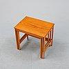 A 1950's teak nesting table.