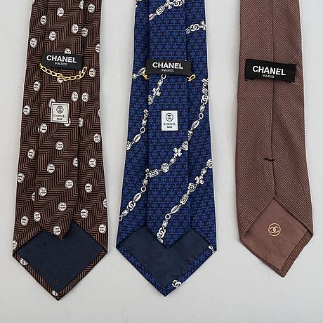 Chanel, slipsar, 3 st.
